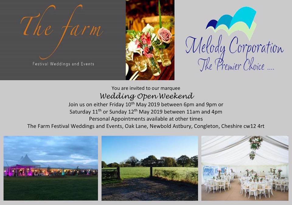 The Farm Wedding open weekend
